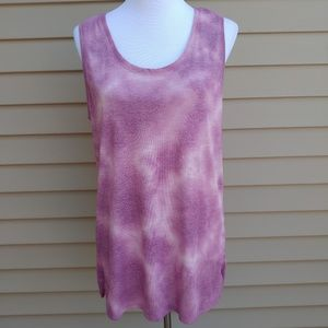 Faded Glory| Tank Blouse Purple Tie-Dye Rayon